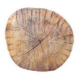 Old weathered cracked tree trunk cross section. stock image