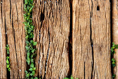 Old Weathered Cracked Wooden railroad tie Texture Stock Images