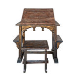 Old weathered Desk with Stool Stock Image