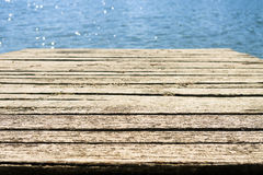 Old weathered dock by the sea Royalty Free Stock Photography