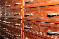Old weathered drawers Stock Photography