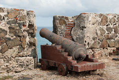 Dutch Fort Cannon Relic of the Past Stock Photos