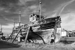 Old weathered fishing boat Stock Image