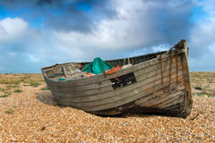 Old Weathered Fishing Boat Stock Photos
