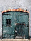 Old and weathered garage door in The Netherlands Royalty Free Stock Image