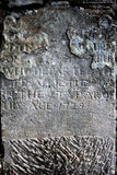 Old weathered gravestone, dated 1729 Stock Photography