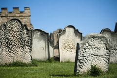 Old weathered gravestones Royalty Free Stock Photography
