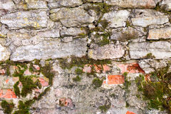 Old weathered grunge stone wall Royalty Free Stock Image