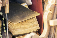 Old weathered Holy Bible Stock Photography