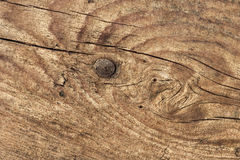 Old Weathered Knotted Cracked Pinewood Floorboard Planking Texture Detail. Old weathered rotten knotted cracked rough Pinewood floorboard planking, grunge Royalty Free Stock Photography