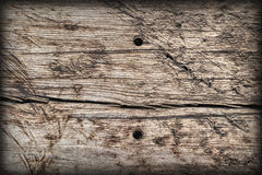 Old Weathered Knotted Wood Rough Battered Grooved Vignetted Grunge Texture Royalty Free Stock Photos