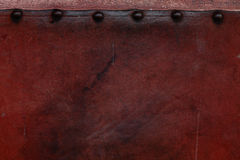 Old weathered leather tacked Royalty Free Stock Photography