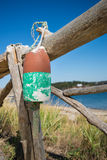 Old weathered lobster buoy Royalty Free Stock Photography