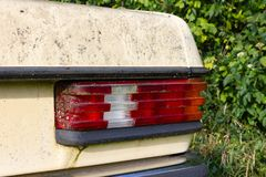 old weathered mercedes benz car royalty free stock photo