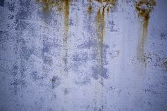 Old weathered painted metal with spots of rust. background, industrial. Old weathered metal painted blue with spots of rust. background, industrial royalty free stock images