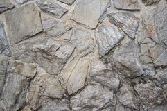 Old and Weathered Natural Stone Tile Wall stock image