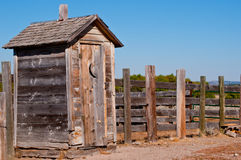 Old weathered outhouse Royalty Free Stock Photography
