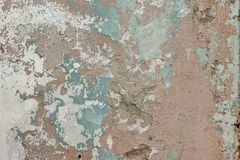 Old Weathered Paint Layer On The Grey Concrete Wall Texture Stock Images