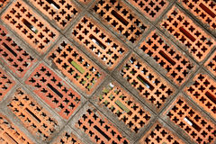 Old weathered red brick wall Stock Photos