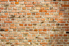 Old weathered red brick wall as background Royalty Free Stock Image