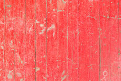 Old and weathered red color wooden wall Stock Image