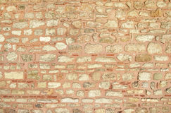 Old weathered red wall of brick Stock Photography