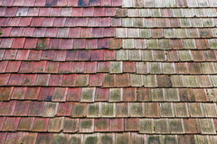 Old weathered roof tiles Royalty Free Stock Photo
