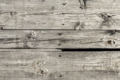Old Weathered Rotten Cracked Knotted Pinewood Floorboards Rough Grunge Surface - Detail Royalty Free Stock Photo