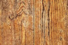 Old Weathered Rotten Cracked Knotted Varnished Pinewood Planks Flaky Grunge Texture Detail.  Stock Photos