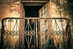 Old weathered rusty balcony Royalty Free Stock Image