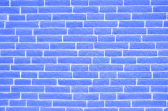Old weathered stained blue brick wall background Royalty Free Stock Images