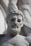 Old Weathered Statue. An old statue of a man's face Royalty Free Stock Image