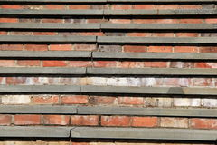 Old, weathered stone and brick staircase Stock Photo