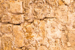 Old and weathered stone wall background, Royalty Free Stock Photo