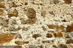 Old weathered stone wall. Texture for your architectural design stock photo