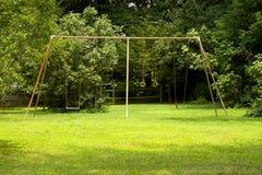 Old Weathered Swingset Stock Photo