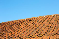 Old weathered tile roof Stock Images