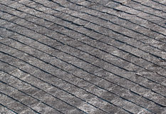 Old weathered tiled shingle roof Royalty Free Stock Images