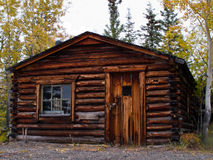 Old weathered traditional log cabin, Yukon, Canada Stock Image