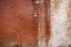 Old weathered wall painted orange Stock Images