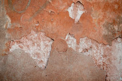Old weathered wall painted orange Royalty Free Stock Photography