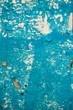Old weathered wall painted in scratched blue color Stock Photography