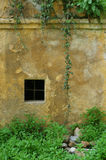 Old weathered wall with window royalty free stock images