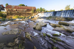Old weathered water mill, Moscow, Vt, USA Royalty Free Stock Image