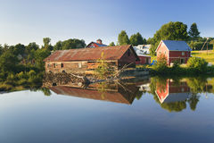 Old weathered water mill, Moscow, Vt, USA Royalty Free Stock Photo