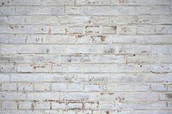 Old weathered white brick wall. Background royalty free stock images