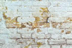 Old weathered white brick wall texture Royalty Free Stock Photo