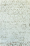 Old weathered white brick wall Stock Images