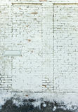 Old weathered white brick wall Stock Photography
