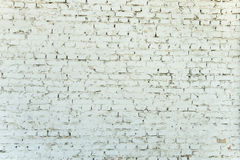 Old weathered white brick wall Royalty Free Stock Photography